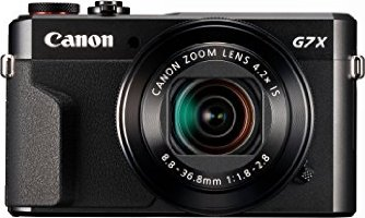 Canon PowerShot G7 X Mark II Digitalkamera mit klappbarem Display (20,1 Megapixel, 4,2-fach optischer Zoom, (7,5 cm (3 Zoll) LCD-Display, Touchscreen) schwarz